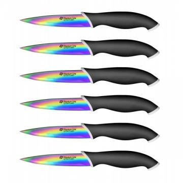 Couteaux à steak x6 lame revêtement titane