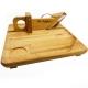 Guillotine à saucisson avec plateau en bois d' hêtre