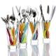 Coffret 6 couteaux de table manches colorés Zig Zag