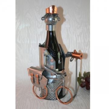 Porte bouteille métal décor facteur postier