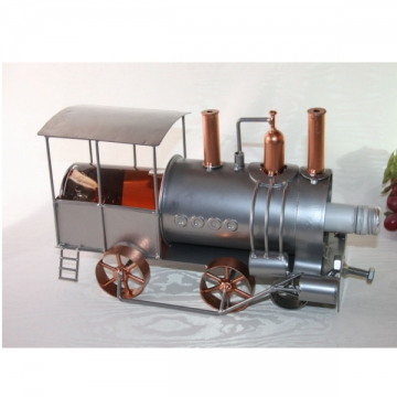 Porte bouteille métal locomotive