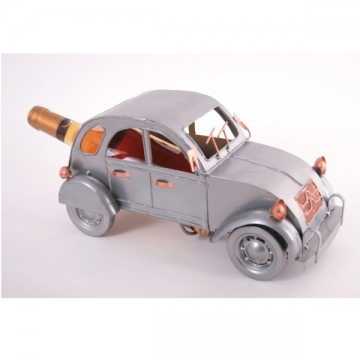 Porte bouteille métal décor voiture ancienne