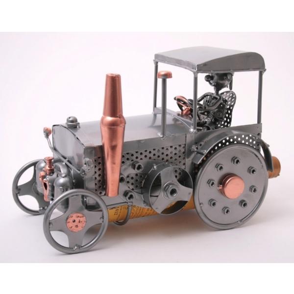 Porte bouteille m tal d cor tracteur gamme forgeron for Porte bouteille decoratif
