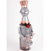 Porte bouteille métal décor cuisinier