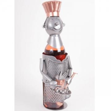 Porte bouteille métal cuisinier