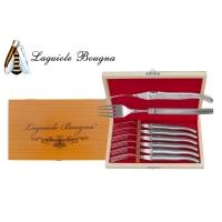 Coffret 6 fourchettes Laguiole tout inox