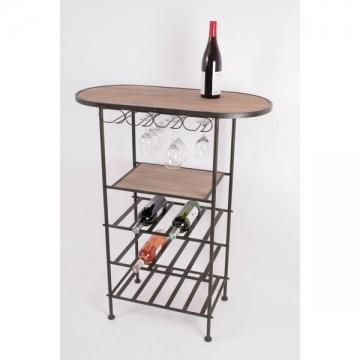 Meuble de cave casier 15 bouteilles + rack à verres