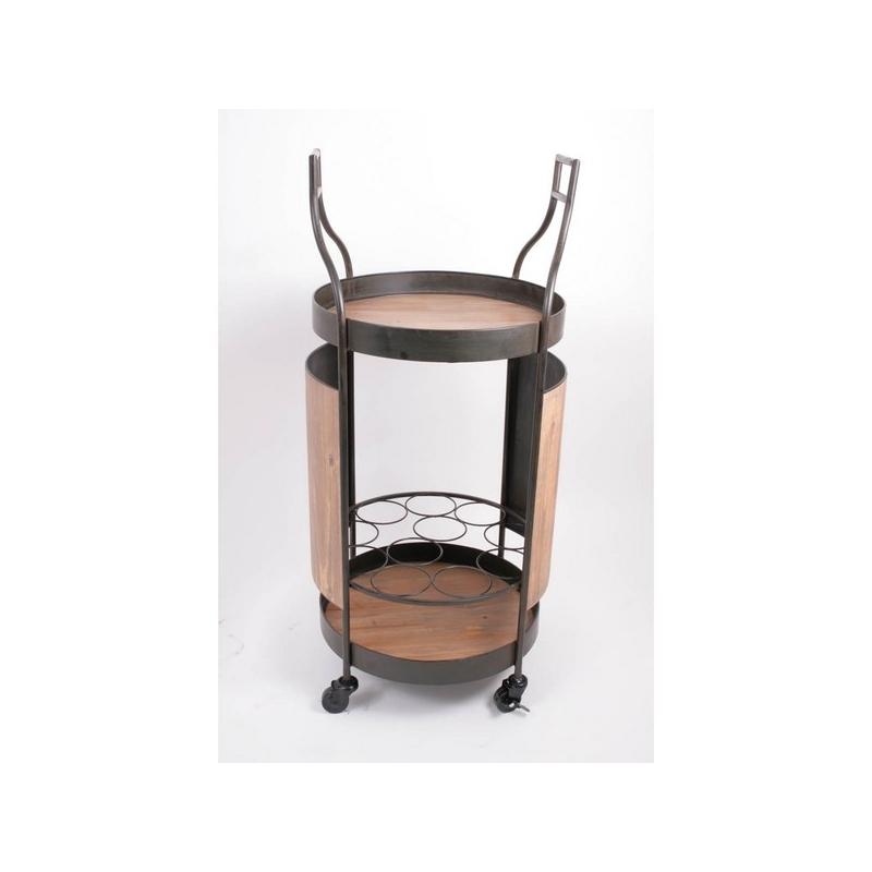 mini bar roulant hauteur 95cm pour loger 12 bouteilles. Black Bedroom Furniture Sets. Home Design Ideas