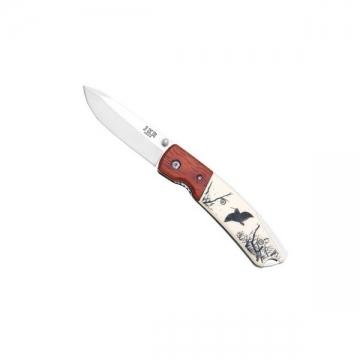 Couteau pliant gravure chasse