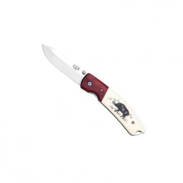 Couteau pliant gravure sanglier