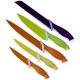 Bloc 5 couteaux cuisine colorés
