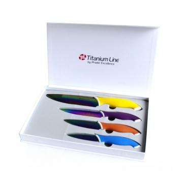 Couteaux x 4 lames revêtement titane