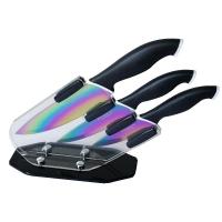 Bloc couteaux de cuisine lames revêtement Titane