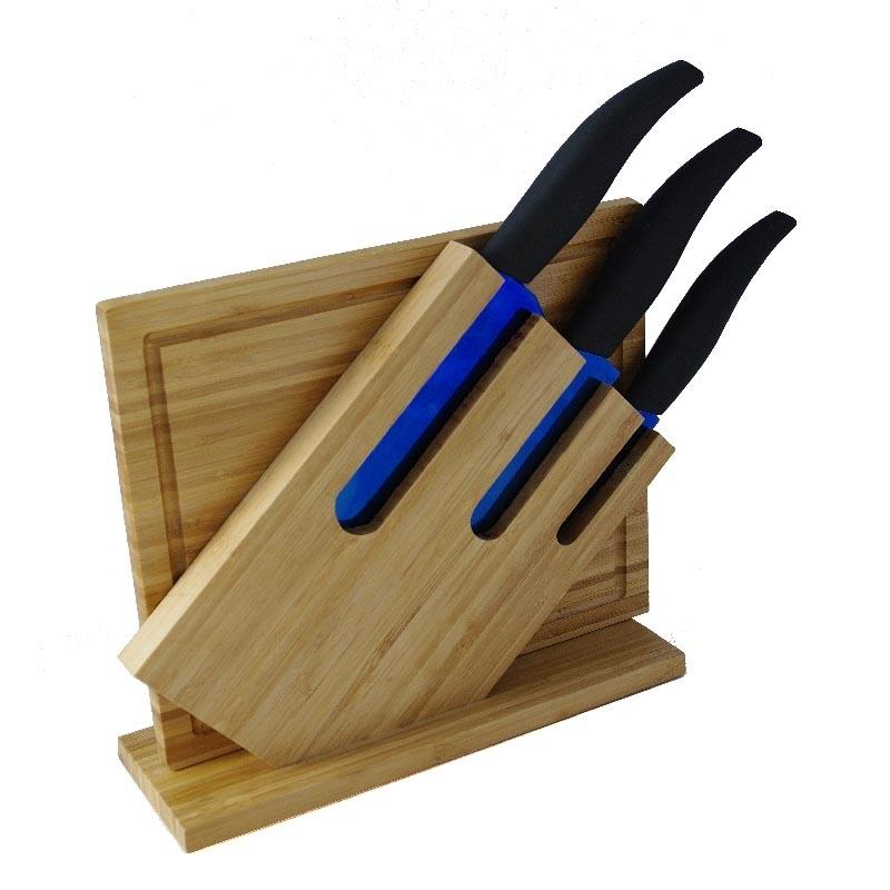 bloc couteaux de cuisine en titane bambou. Black Bedroom Furniture Sets. Home Design Ideas