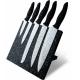 Bloc 5 couteaux de cuisine lames anti adherentes façon pierre