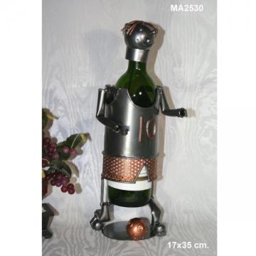 Porte bouteille métal joueur foot