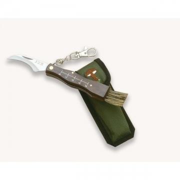 Couteau à champignons pliant lame et brosse