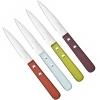 Couteaux office x4 manches bois colorés