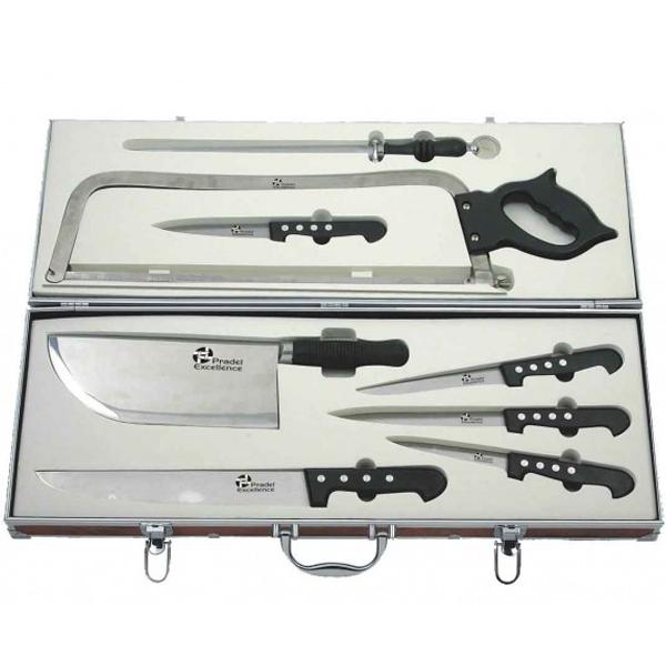 valise   malette du  boucher  couteaux  PRADEL EXCELLENCE  9 PIECES